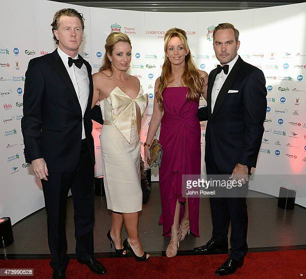 Steve Mcmanaman and Jason Mcateer ex players of Liverpool arrives at the Liverpool Player of the Year Awards on May 19 2015 in Liverpool England