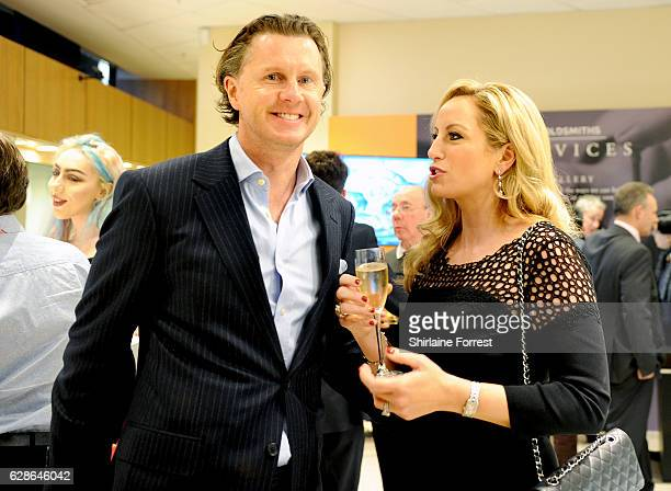Steve McManaman and wife Victoria McManaman attend the official opening of the Goldsmiths Liverpool Rolex lounge on December 8 2016 in Liverpool...
