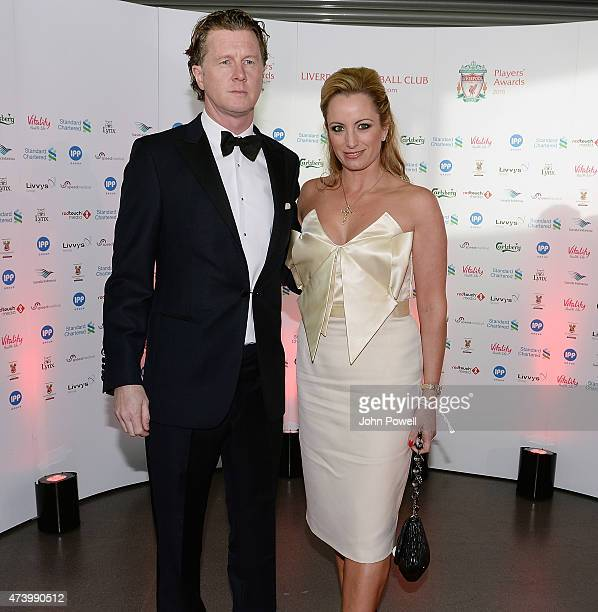 Steve Mcmanaman ex player of Liverpool arrives at the Liverpool Player of the Year Awards on May 19 2015 in Liverpool England
