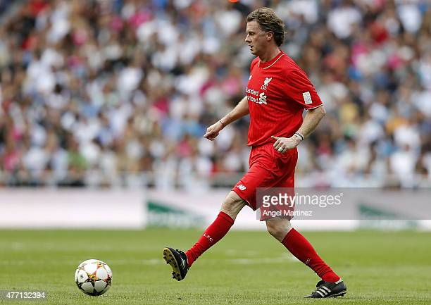 Steve McManaman of Liverpool Legends in action during the Corazon Classic charity match between Real Madrid Leyendas and Liverpool Legends at Estadio...