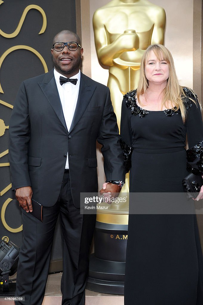 Steve McQueen and Bianca Stigter attend the Oscars held at Hollywood & Highland Center on March 2, 2014 in Hollywood, California.