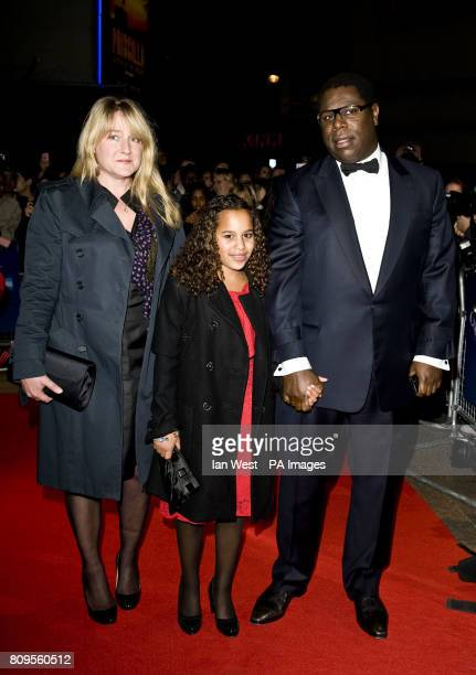 Steve McQueen and family at the premiere of new film Shame at the Vue Cinema in London