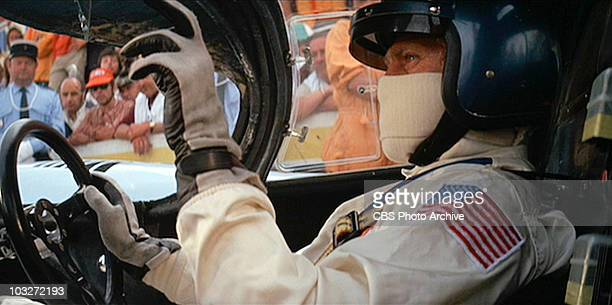 Steve McQueen as race car driver Michael Delaney in the movie 'Le Mans' Image is a frame grab
