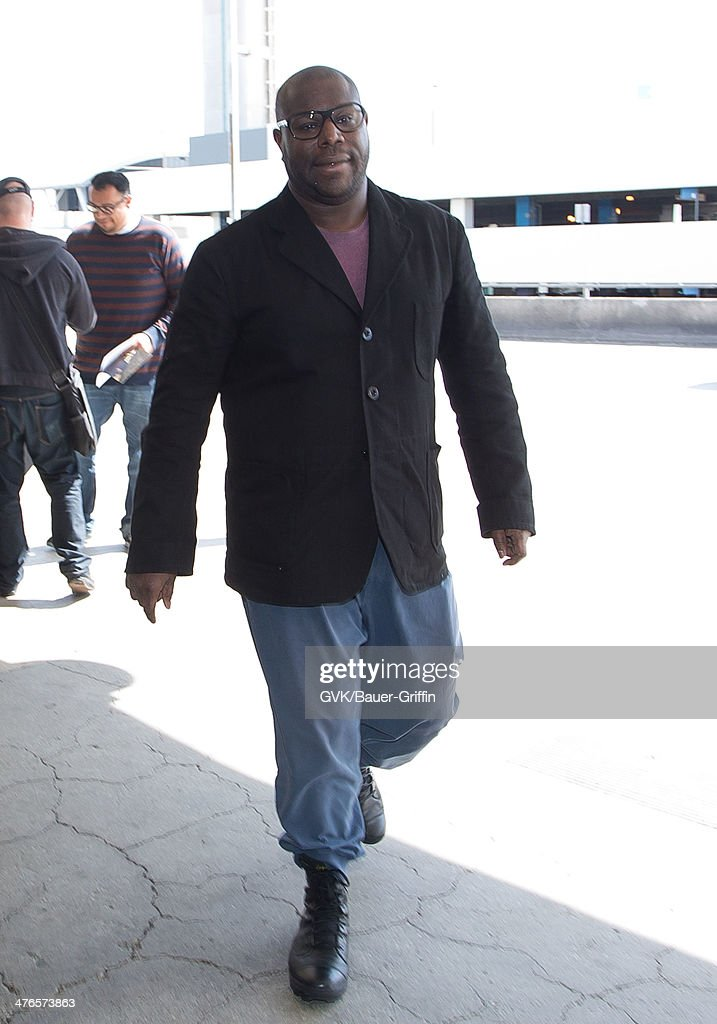 Steve McQueen is seen at Los Angeles International Airport on March 03, 2014 in Los Angeles, California.