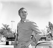 Steve McQueen of the CBS television western 'Wanted Dead or Alive' at CBS Television City Hollywood CA Image dated May 24 1960