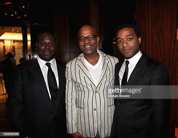 Steve McQueen Patrick Harrison and Chiwetel Ejiofor attend The Academy Of Motion Picture Arts And Sciences Hosts The New York Member Receptio on...
