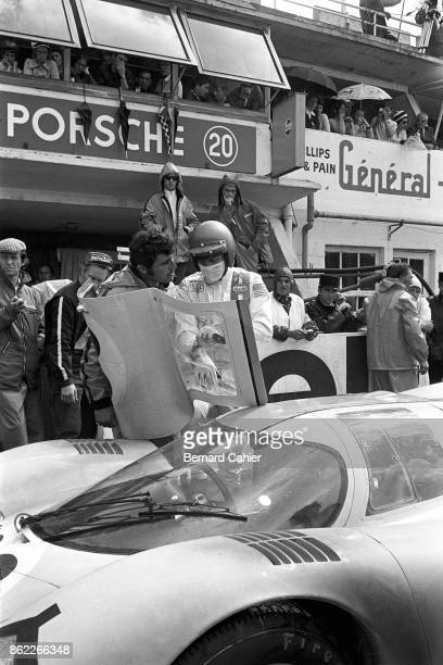 Steve McQueen Porsche 917 24 Hours of Le Mans Le Mans 14 June 1970 Hollywood star Steve McQueen during the shooting of his film 'Le Mans'