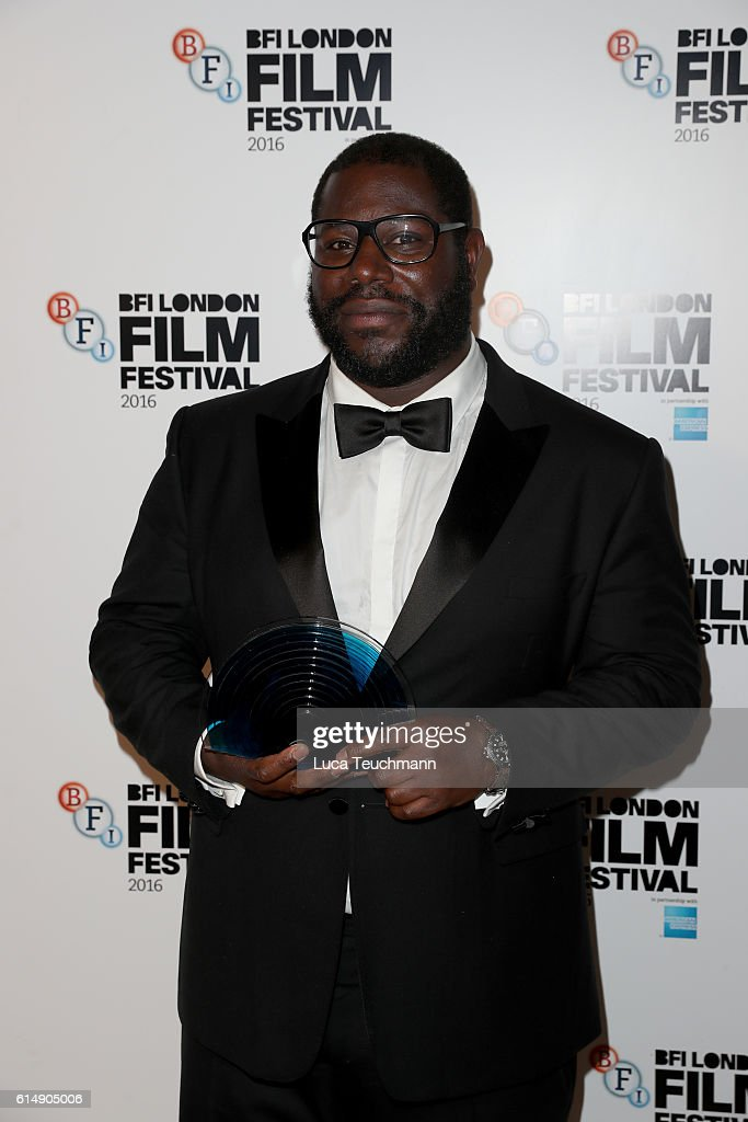 Steve McQueen poses in the winner's room at BFI London Film Festival Awards during the 60th BFI London Film Festival at Banqueting House on October 15, 2016 in London, England.