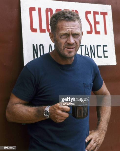 Steve McQueen sighted on location filming 'Papillion' on April 15 1973 in Montego Bay Jamaica