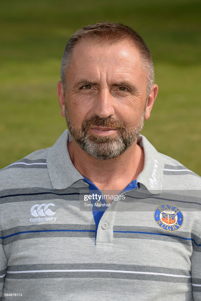 Steve Middleton Kit Manager poses for a portrait during the Bath Rugby squad photo call for the 20162017 Aviva Premiership Rugby season on August 24...