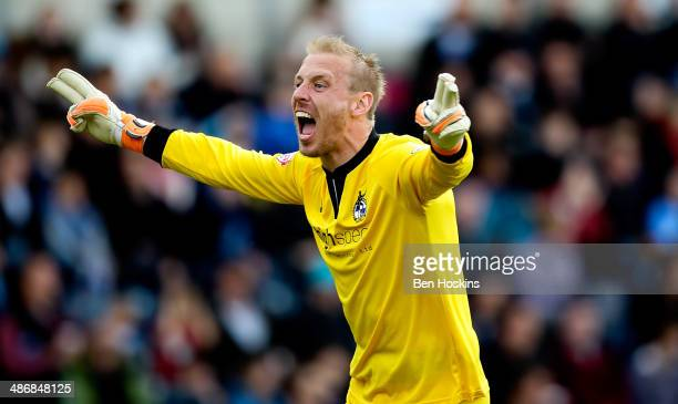 Steve Mildenhall of Bristol celebrates after Lee Brown opens the scoring during the Sky Bet League Two match between Wycombe Wanderers and Bristol...