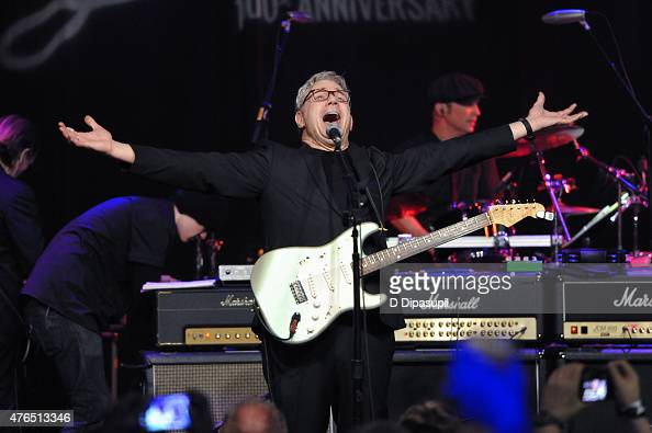 Steve Miller performs onstage during Les Paul's 100th Anniversary Celebration at the Hard Rock Cafe Times Square on June 9 2015 in New York City