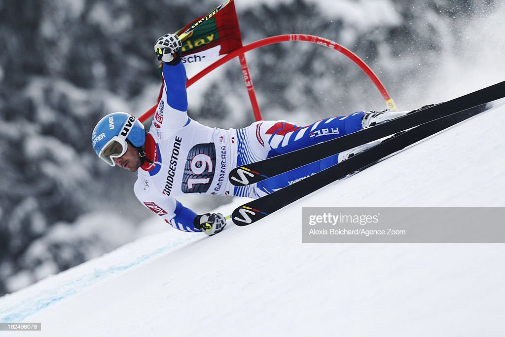 <a gi-track='captionPersonalityLinkClicked' href=/galleries/search?phrase=Steve+Missillier&family=editorial&specificpeople=835364 ng-click='$event.stopPropagation()'>Steve Missillier</a> of France competes during the Audi FIS Alpine Ski World Cup Men's Giant Slalom on February 24, 2013 in Garmisch-Partenkirchen, Germany.