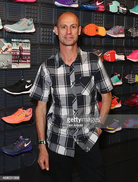 Steve Moneghetti attends the launch of Australia's Nike flagship store on October 29 2014 in Sydney Australia