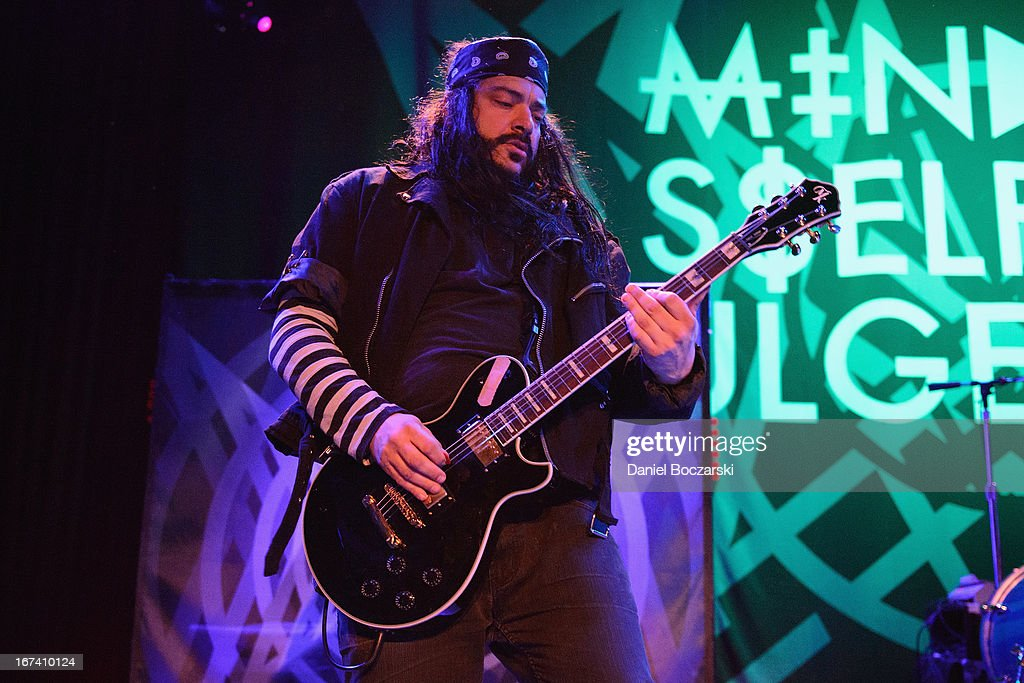 Steve Montano aka Steve, Righ? of Mindless Self Indulgence performs on stage at House Of Blues Chicago on April 24, 2013 in Chicago, Illinois.