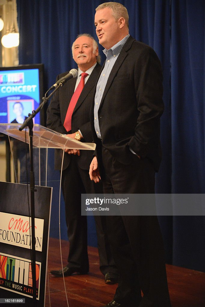Steve Moore and Michael Weidman attend the 4th annual Keep The Music Playing All-Stars Concert at Schermerhorn Symphony Center on February 19, 2013 in Nashville, Tennessee.