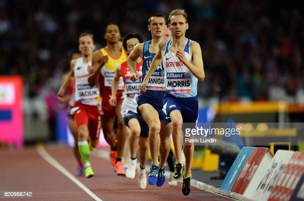 Steve Morris of Great Britain in action during the final of the mens 800m T20 on day nine of the IPC World ParaAthletics Championships 2017 at London...
