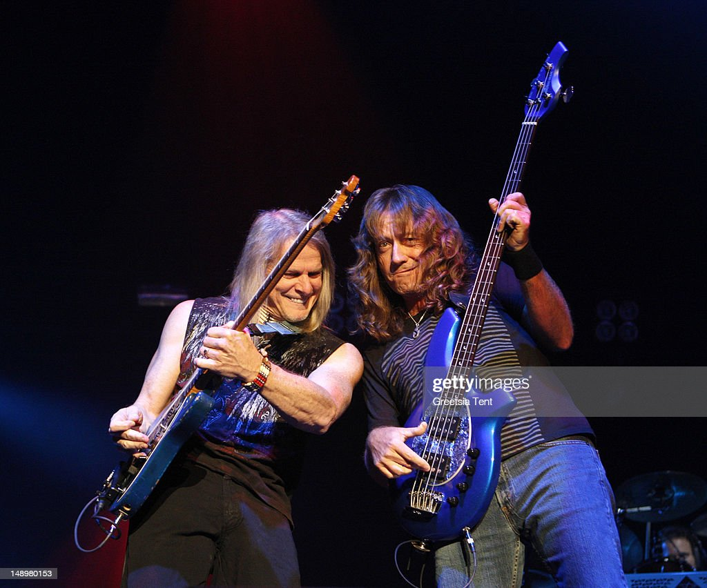 Steve Morse and Dave LaRue perform at the G3 Tour at Heineken Music Hall on July 20, 2012 in Amsterdam, Netherlands.