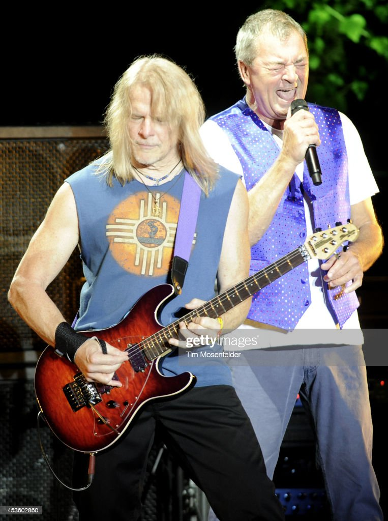 Steve Morse (L) and Ian Gillan of Deep Purple perform at The Mountain Winery on August 13, 2014 in Saratoga, California.