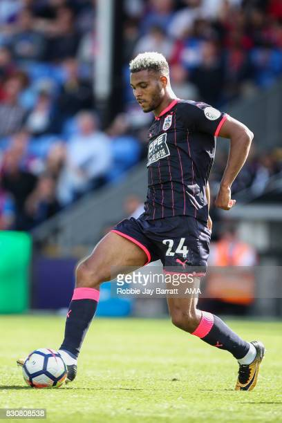 Steve Mounie of Huddersfield Town during the Premier League match between Crystal Palace and Huddersfield Town at Selhurst Park on August 12 2017 in...