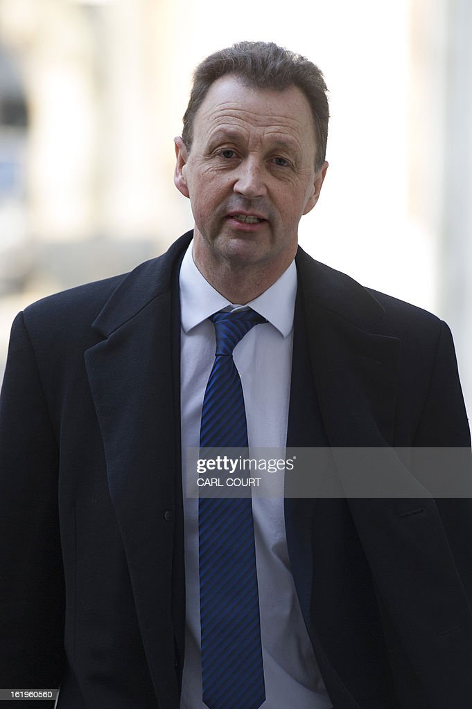 Steve Murrells, Chief Executive of Food at the Co-operative Group, arrives for a meeting with British Environment Secretary, Owen Paterson (not pictured) and other food retailers, in central London on February 18, 2013, to establish what is being done to restore consumer confidence in the wake of the horse meat scandal. AFP PHOTO/CARL COURT