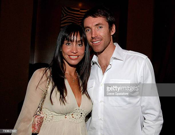 Steve Nash and wife Alejandra attend the NBA AllStar Weekend Party hosted by GQ Magazine and Steve Nash of the Phoenix Suns in the VBar at the...
