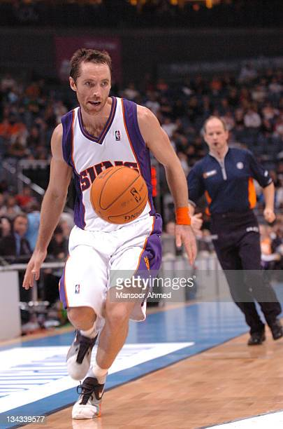 Steve Nash of Phoenix tries to control the basketball during the NBA Europe Live Tour presented by EA Sports on October 11 2006 at the Kölnarena in...