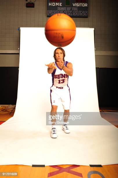 Steve Nash of the Phoenix Suns poses for a portrait during 2009 NBA Media Day on September 28 at US Airways Center in Phoenix Arizona NOTE TO USER...