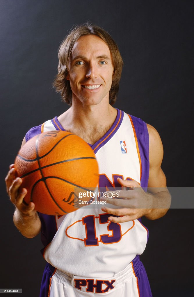 Steve Nash of the Phoenix Suns poses for a portrait during NBA Media Day on October 4 2004 in Phoenix Arizona NOTE TO USER User expressly...