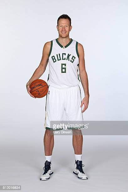 Steve Novak of the Milwaukee Bucks poses for portraits at the Orthopaedic Hospital of Wisconsin Training Center on February 23 2016 in St Francis...