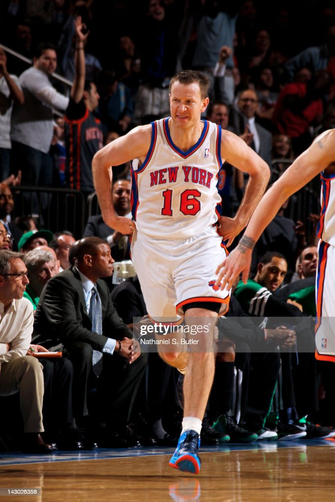 <a gi-track='captionPersonalityLinkClicked' href=/galleries/search?phrase=Steve+Novak&family=editorial&specificpeople=693015 ng-click='$event.stopPropagation()'>Steve Novak</a> #16 of the New York Knicks celebrates after making a three-point shot against the Boston Celtics on April 17, 2012 at Madison Square Garden in New York City.