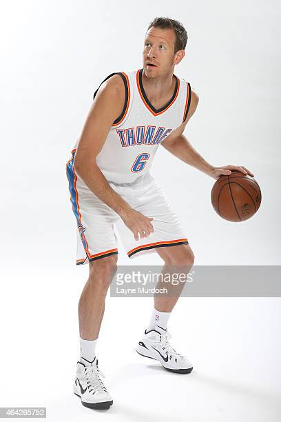 Steve Novak of the Oklahoma City Thunder poses for portraits on February 22 2015 at the Chesapeake Energy Arena in Oklahoma City Oklahoma NOTE TO...