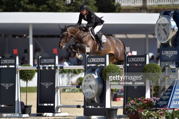 Steve of Switzerland riding Corbinian during the Piazza di Siena Bank Intesa Sanpaolo in the Villa Borghese on May 27 2017 in Rome Italy