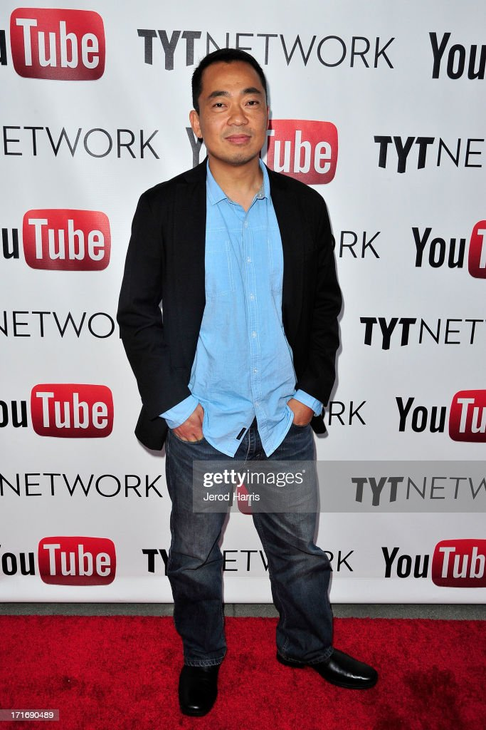 Steve Oh arrives at YouTube and TYT Network Present the 1st Annual YouTube PRIDE Party Hosted By Dave Rubin at YouTube Space LA on June 27, 2013 in Los Angeles, California.
