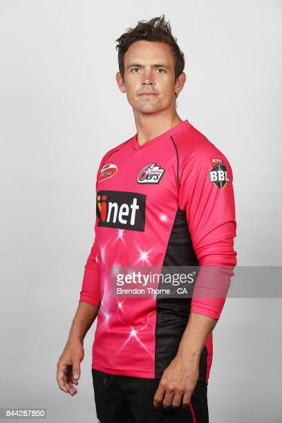 Steve O'Keefe poses during the Sydney Sixers Big Bash League headshots session at Sydney Cricket Ground on December 11 2016 in Sydney Australia
