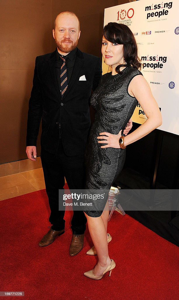 Steve Oram (L) and Alice Lowe arrive at the London Critics Circle Film Awards at the May Fair Hotel on January 20, 2013 in London, England.