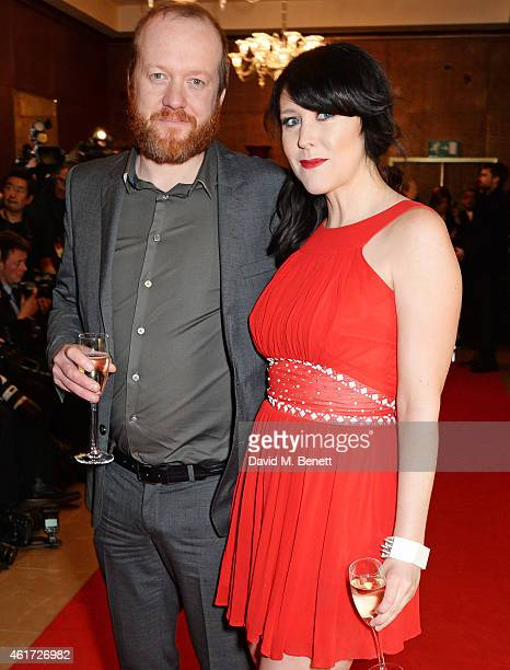 Steve Oram and Alice Lowe attend The London Critics' Circle Film Awards at The Mayfair Hotel on January 18 2015 in London England