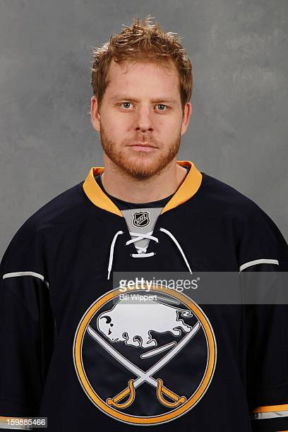 Steve Ott of the Buffalo Sabres poses for his official headshot for the 20122013 season on January 13 2013 at the First Niagara Center in Buffalo New...