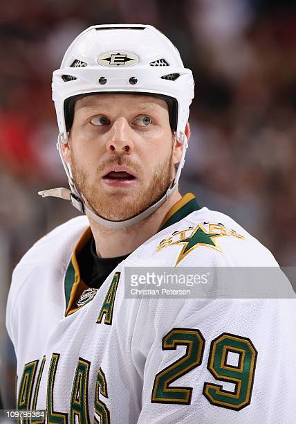 Steve Ott of the Dallas Stars during the NHL game against the Phoenix Coyotes at Jobingcom Arena on March 1 2011 in Glendale Arizona The Stars...