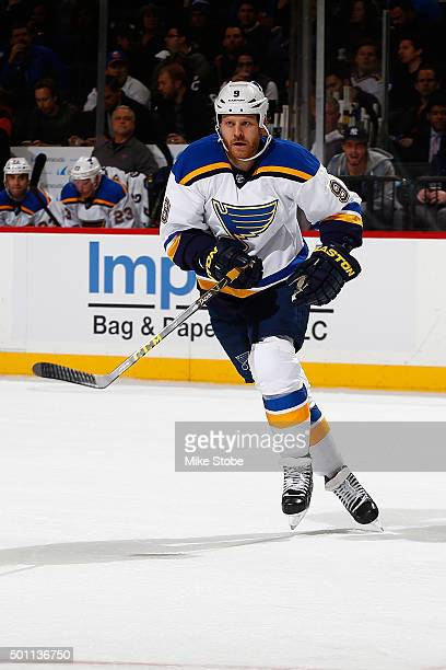 Steve Ott of the St Louis Blues skates against the New York Islanders at the Barclays Center on December 4 2015 in Brooklyn borough of New York City...
