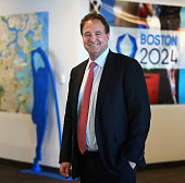 Steve Pagliuca the new chairman of the Boston 2024 Olympics bid in the committee's office on Fan Pier