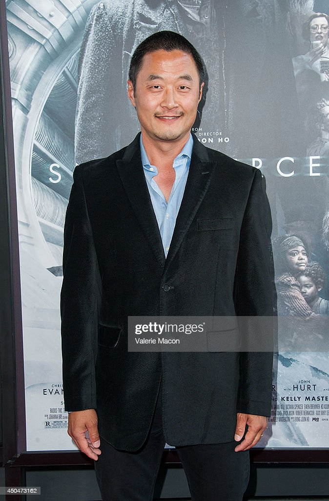 <a gi-track='captionPersonalityLinkClicked' href=/galleries/search?phrase=Steve+Park&family=editorial&specificpeople=171907 ng-click='$event.stopPropagation()'>Steve Park</a> arrives at the 2014 Los Angeles Film Festival - Opening Night Premiere Of 'Snowpiercer' at Regal Cinemas L.A. Live on June 11, 2014 in Los Angeles, California.