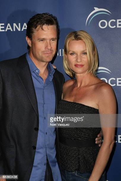 Steve Pate and Nicollette Sheridan attend Oceana's celebration of World Oceans Day with La Mer at a private residence on June 8 2009 in Los Angeles...