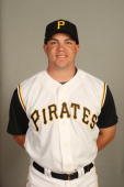 Steve Pearce of the Pittsburgh Pirates poses for a portrait during photo day at McKechnie Field on February 24 2008 in Bradenton Florida