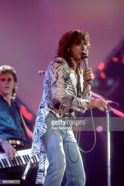 Steve Perry of Journey at the Rosemont Horizon in Rosemont Illinois October 4 1986
