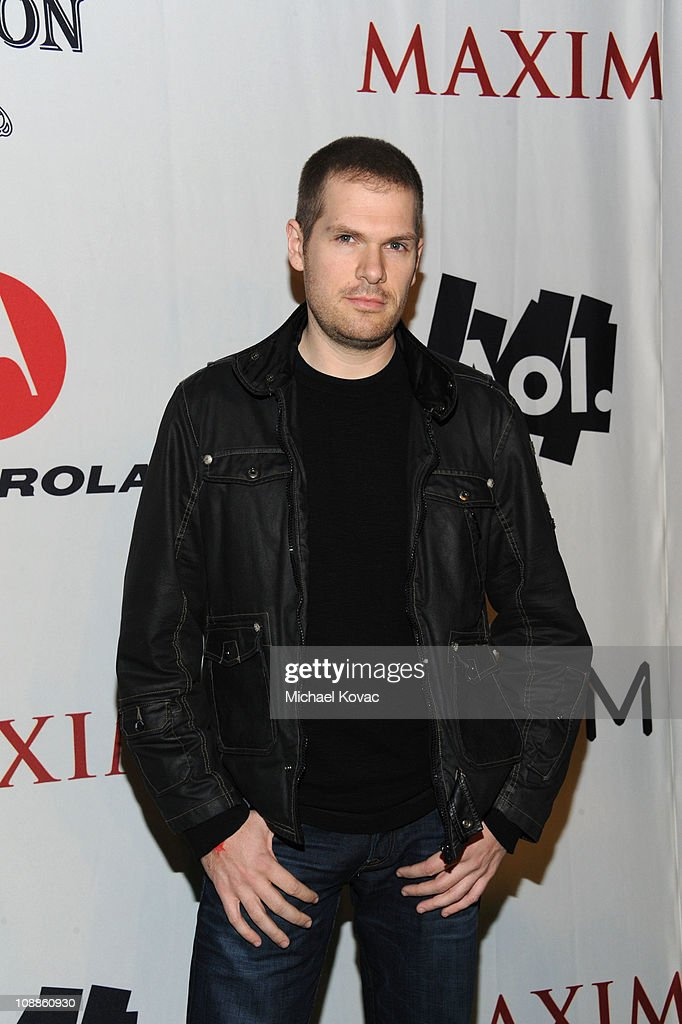 DJ Steve Porter poses with AOL at the Maxim Party Powered by Motorola Xoom at Centennial Hall at Fair Park on February 5, 2011 in Dallas, Texas.