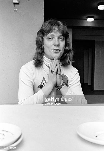 Steve Priest of The Sweet backstage in the dressing room in April 1975 in Copenhagen Denmark