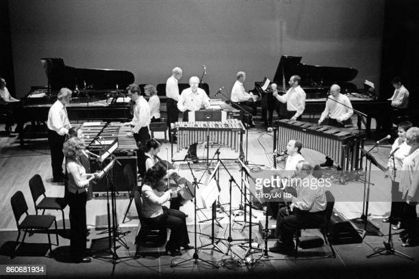 Steve Reich and Musicians performing at Miller Theater on Thursday night September 21 2000This image Steve Reich top right playing piano with...