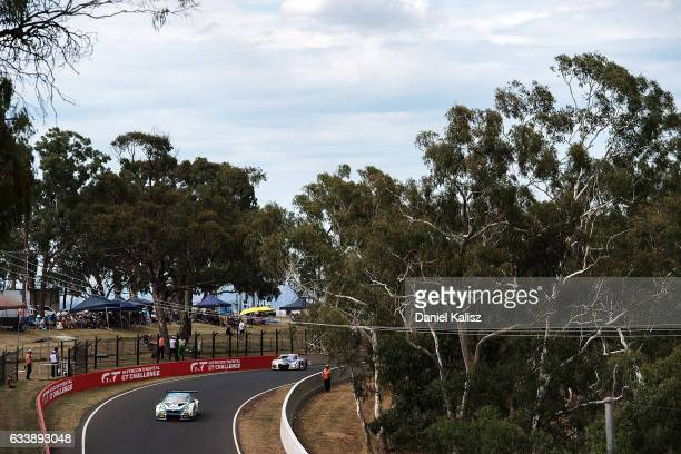 Steve Richards drives the BMW Team SRM BMW M6 GT3 during the 2017 Bathurst 12 hour race at Mount Panorama on February 5 2017 in Bathurst Australia