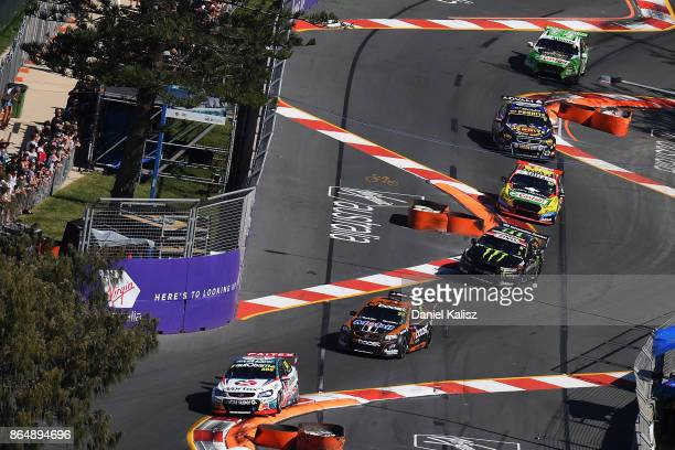 Steve Richards drives the TeamVortex Holden Commodore VF during race 22 for the Gold Coast 600 which is part of the Supercars Championship at Surfers...
